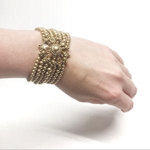 • Carolee Vintage Beaded Stretch Bracelet Z3